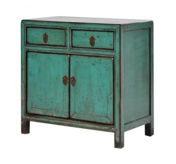 Oriental Turquoise Small 2 Door Cupboard