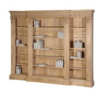 Villeneuve Oak Breakfront Bookcase