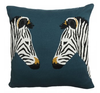 Zebra Knitted Statement Cushion