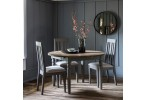 Grey Round Extending Dining Table