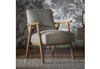 French Contemporary Grey Armchair