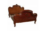 Carved Louis XV Bed - Mid Mahogany