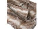 Chunky Stripe Fur Throw - Close Up