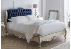 Fleur Silver French Style Upholstered Bed