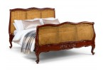 ouis XV Style Rattan Bed - Mid Mahogany
