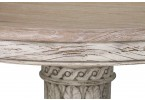 Heavy Distressed Round Dining Table - Close Up