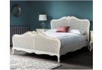 Charlotte Painted Ivory Rattan Bed Set