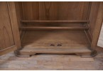 French Louis Philippe sleigh wardrobe - shoe rack