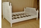 Louis Rattan Bed - Example Chalk Finish
