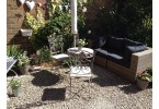 Grey-Wash Round Metal Garden Table - Set Image