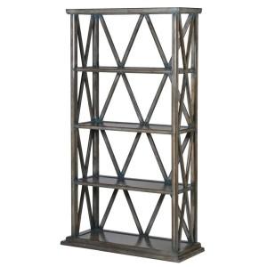 Black 6 Door Bookcase