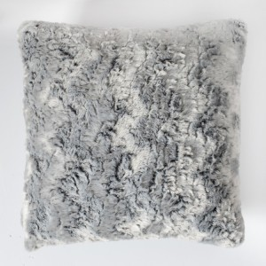 Monochrome & Gold Palm Leaves Cushion