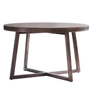 Manhattan Contemporary Round Dining Table
