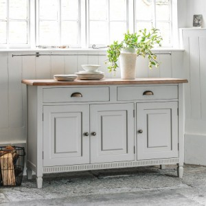 Malvern Light Grey 3 Door Sideboard