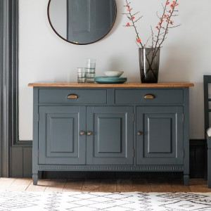 Black 3 Drawer Hall Table