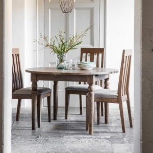 French Grey Extending Dining Table