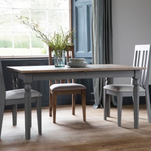 Richmond French Washed Oak Top Extending Dining Table