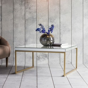 French Mirrored Seville 3-leg Console Table