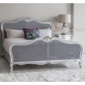 Rococo Antique White French Bed