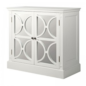 Ashwell Classic White French Mirrored 4 Door Sideboard