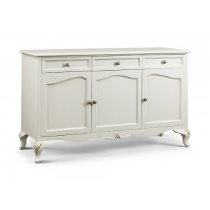 Amelie French Silver 4 Door Sideboard