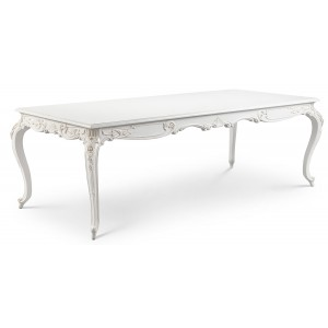 Louis French Small Dining Table - Finished in Chalk