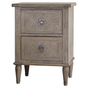Loire Light Grey French Open Bedside Table