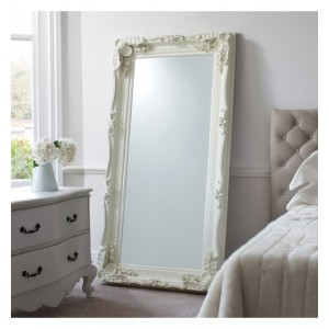 Ivory French Inspired Cheval Mirror