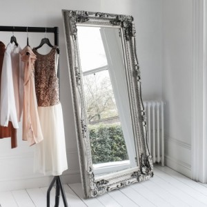 Valois Black French Style Leaner Mirror