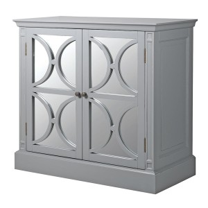 Chamonix Grey 4 Door Mirrored Sideboard
