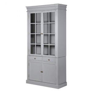 Chamonix Grey 2 Door 2 Drawer Cupboard