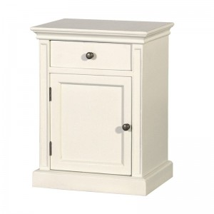 Louis Philippe Weathered French Sleigh Bedside Table
