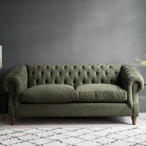 Grey Felt Two Seater Sofa