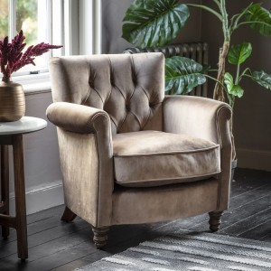 Rochelle Noir Curved Back French Bedroom Chair