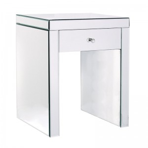 French Mirrored Curved Bedside