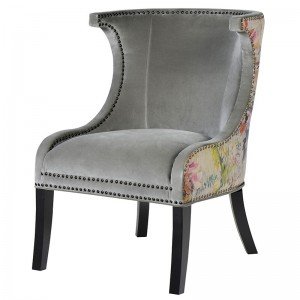 Purple Petal French Side Chair