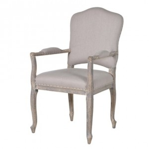 Dark Grey Studded Dining Chair with Ring- Front