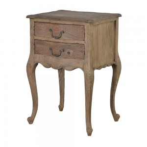 Villeneuve Oak French Bedside Table
