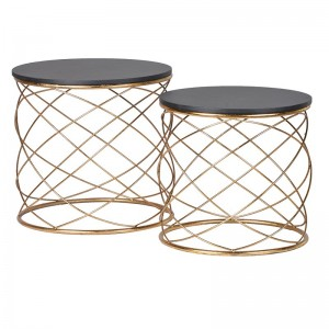 Gold Vine Circular Side Table