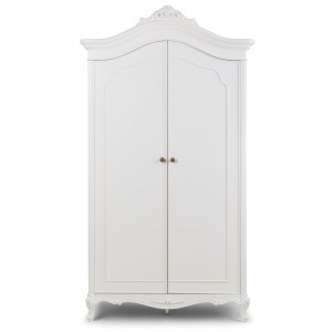 Cristal French Silver Leaf 2 Door Wardrobe