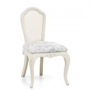 Rose Pink Petal French Chair