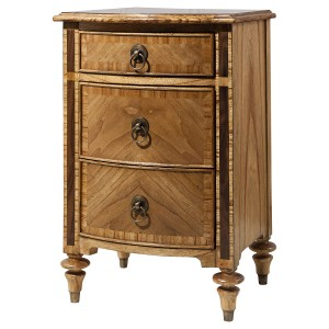 Antoinette French Sleigh 2 Drawer Bedside Table
