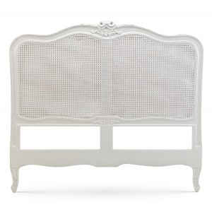Louis XV Bergere Headboard Antique White