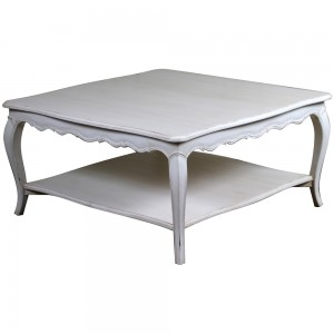 Loire Light Grey French Square Coffee Table