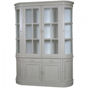 Louis French Showcase with Cupboard