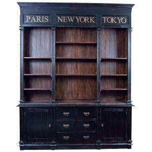 Chantilly Double Bookcase with Doors