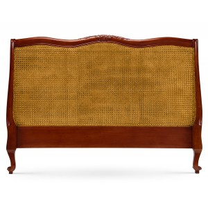 Carved Louis XV Headboard - Mid Mahogany