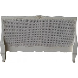 Louis XV Headboard Antique White
