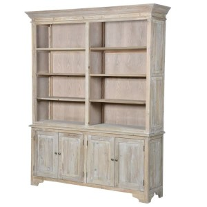 Helene Grey Lime Washed French Writing Desk