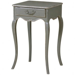 Chateau Antique White Painted Lamp Table with Drawer